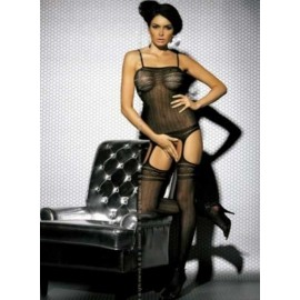 SexyLingerie donna Obsessive, Bodystocking effetto guepiere + calze