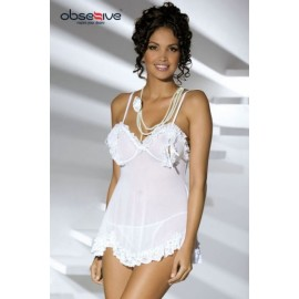 Sexy lingerie donna Obsessive,Joanna Babydoll trasparente aperto
