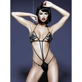 Sexy lingerie donna Obsessive,Luiza body sensuale e accattivante