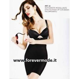 Sottoveste donna Andra modellante push up senza seno con body