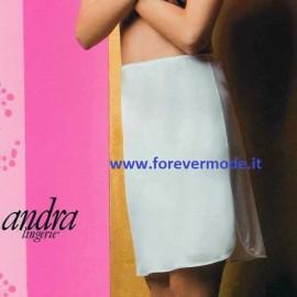 Sottogonna donna Andra Lingerie, spacco laterale e fondo bordato