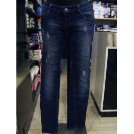 Jeans donna Fionina elasticizzato con borchiette