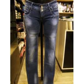 Jeans donna Miss Natalie elasticizzato ad effetto invecchiato