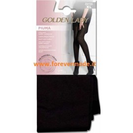 Collant donna Golden Lady Piuma morbido caldo e supercoprente