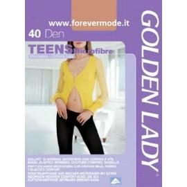 Collant donna Golden Lady Teens 40 in microfibra a vita bassa