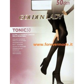 2 Collant donna Golden Lady Tonic 50 coprente in microfibra