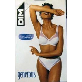 Reggiseno donna Dim Generous senza ferretto con microrete nero