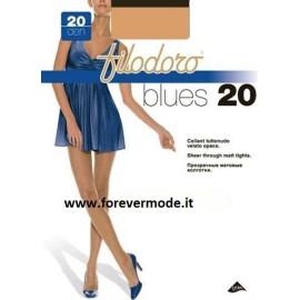 3 Collant donna Filodoro Blues20 tuttonudo opaco tassello cotone