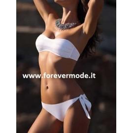 Bikini donna Sielei a fascia imbottita con paillettes + slip