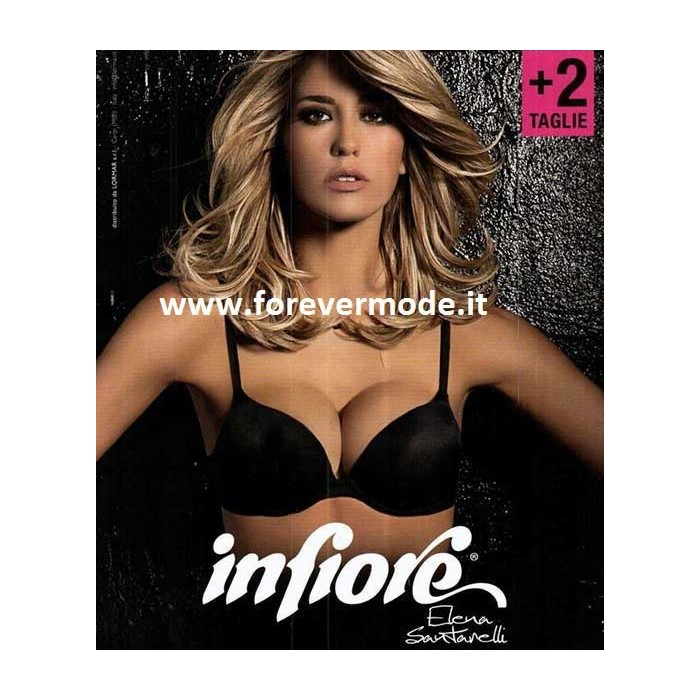 Reggiseno donna Infiore super push up con imbottitura + 2 taglie