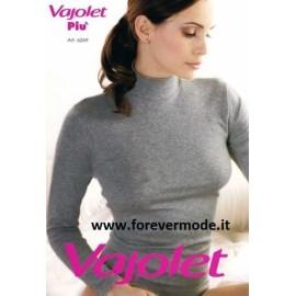 Maglia donna Vajolet manica lunga a lupetto cotone elasticizzato