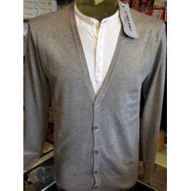 Cardigan uomo Y.TWO con effetto doppia maglia, taglio moda