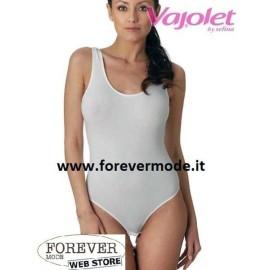 Body donna Vajolet spalla larga con scollatura ampia in cotone