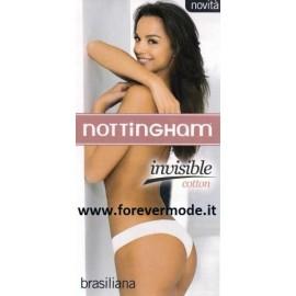 3 Slip brasiliana donna Nottingham in cotone a taglio laser