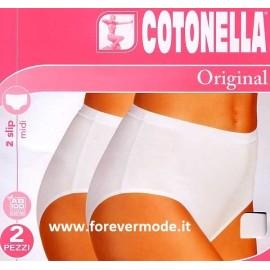 2 Slip donna Cotonella Midi in morbido cotone elasticizzato