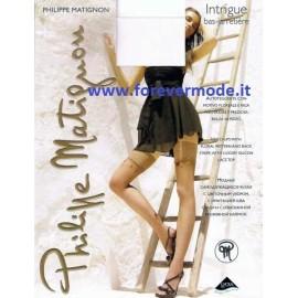 Autoreggente donna Matignon Intrigue motivo floreale riga dietro