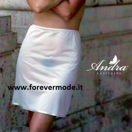 Sottogonna donna Andra Lingerie media altezza con fondo bordato