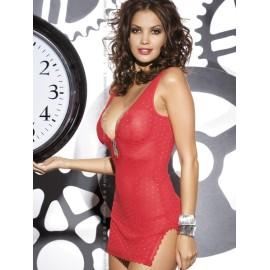 Sexy lingerie donna Obsessive, Blasco chemise mini rosso