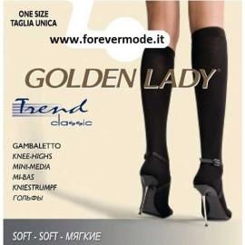 3 Paia Gambaletti donna Golden Lady Trend caldi con bordo comfort
