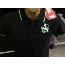 Polo uomo Boxing Club con logo frontale e scritta sul collo fluo