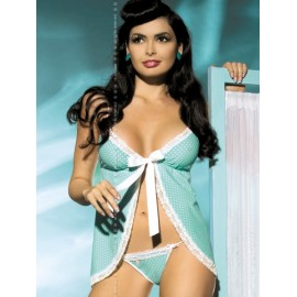 Sexy lingerie donna Obsessive, Dottie Babydoll a pois aperto