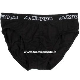 3 Slip uomo Kappa in cotone con elastico esterno loggato