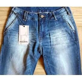 Jeans uomo Angel Devil elasticizzato con sbiaditure e rotture