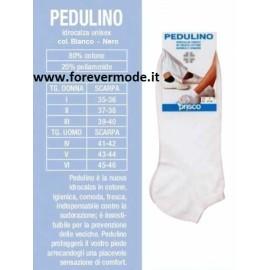 Calza donna pedulino Prisco corto in cotone, modello Sanitario