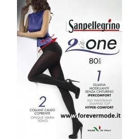 2 Collant donna Sanpellegrino 80den con guaina modellante