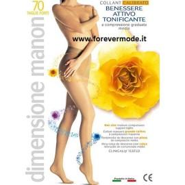 Collant donna Manon 70 Taglie Forti calibrato, mmhg 13-17
