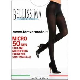 3 Collant donna Bellissima 50 den coprenti in morbida microfibra