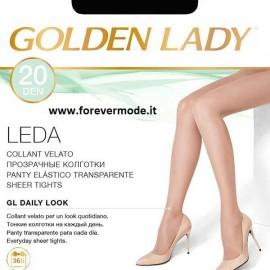 20 Collant donna Golden Lady Leda 20 den con cuciture comfort