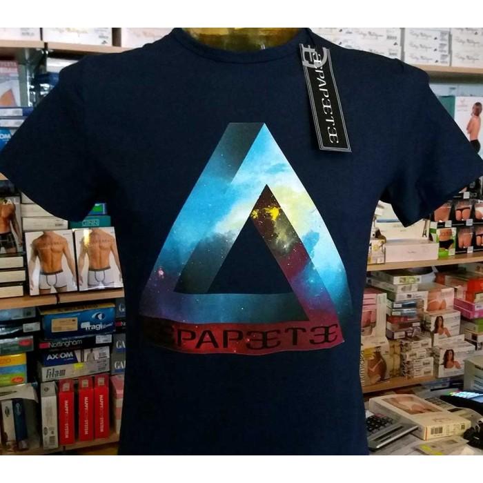 T-shirt uomo Papeete manica corta a girocollo con stampa logo