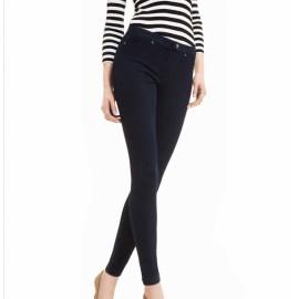 Leggings donna Matignon jeans con cotone con tasche vere sul retro