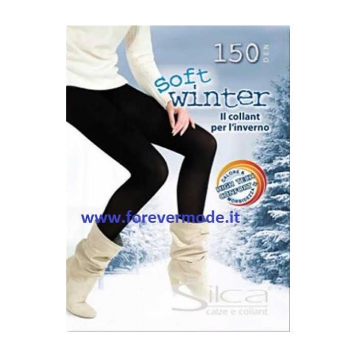 Collant donna Silca Soft Winter 150 den in microfibra comfort
