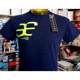 T-shirt uomo Papeete manica corta a girocollo in cotone con stampa logo fluo