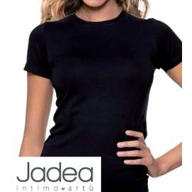 T-shirt maglia donna Jadea manica corta a girocollo in cotone e modal