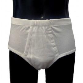 3 Slip uomo Map fianco alto in cotone liscio con apertura ed elastico interno