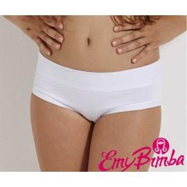 6 Slip culotte da bambina Emy in cotone con bordo ampio comfort