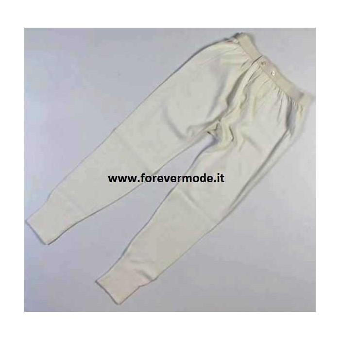 Mutanda uomo Mapom a gamba lunga in lana e cotone con apertura