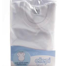 3 Body neonato bambino Ellepi manica corta aperti in spalla in cotone