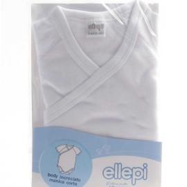 3 Body neonato bambino Ellepi manica corta incrociata in cotone garzato