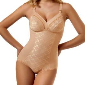 Body donna Sielei Falk senza ferretto in microfibra contenitivo e modellante
