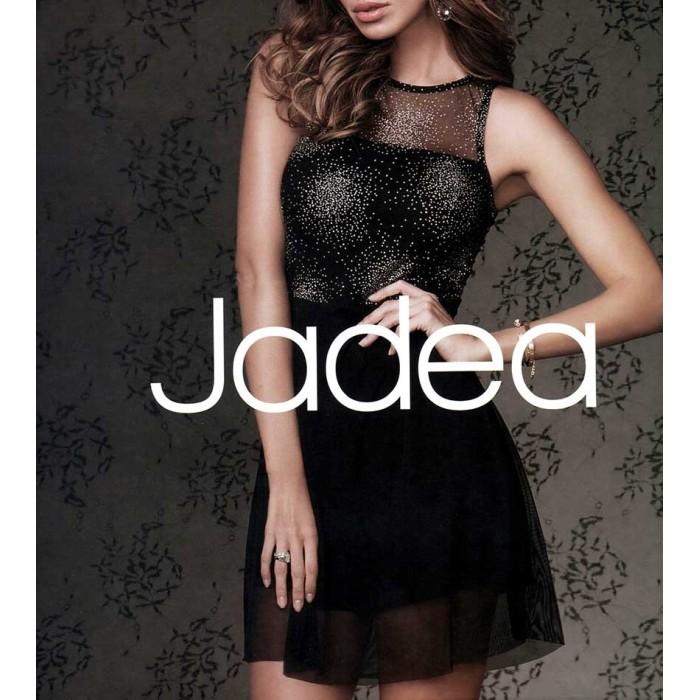 Vestito donna Jadea a spalla larga con applicazioni in tulle e lurex