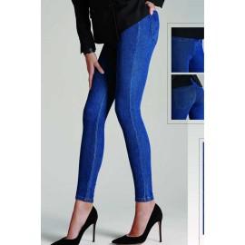 Leggings donna Matignon jeans in cotone con vere tasche dietro