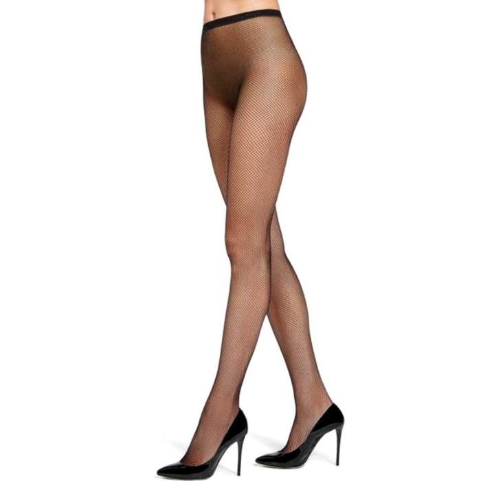 Collant donna Matignon in morbida Retina opaca con corpino e punte nude