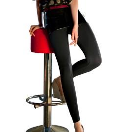 Leggings donna Omsa in microfibra super coprente senza cuciture a maglia liscia
