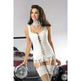 Sexy Lingerie donna Obsessive, Bride Corsetto sensuale con collana