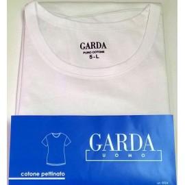 3 T-Shirt uomo Garda manica corta in puro cotone pettinato con collo medio