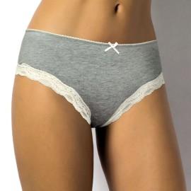 6 Slip culotte donna SieLei in morbido cotone elasticizzato con profili in pizzo